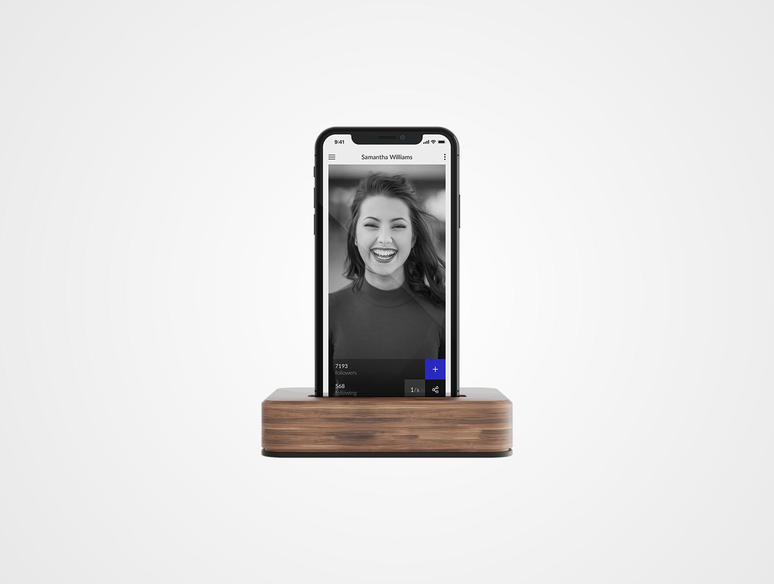 iPhoneX Dock Mockup